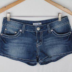True Bliss Jean Shorts w Contrast Stitching